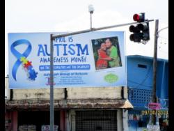 One of the billboards highlighting Autism Awareness Month that Deannee paid for.