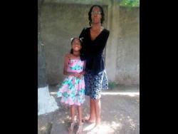 Nine-year-old Ashara Channer and her mom Shamelia Baker