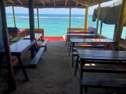 Empty seats at Prendy's on the Beach.