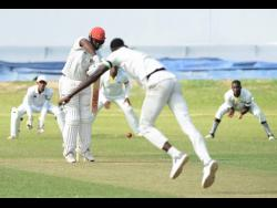 Action in the Jamaica Cricket Association (JCA) Senior Cup final between the Jamaica Defence Force and Melbourne Cricket Club at Sabina Park on Saturday, April 13, 2019.
