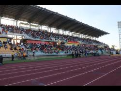 The running track at the Montego Bay Sports Complex in St James.