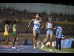 FILE Rushana Dwyer of Edwin Allen High School competes in the Girls' 4x800m open relay at the Gibson McCook Relays held at The National Stadium in St Andrew on Saturday February 29, 2020.