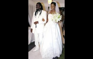 Beenie Man and D'Angel on their wedding day.