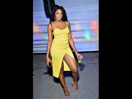 This diva looks quite lovely in a yellow dress.