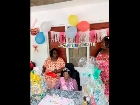 Estina Vernon celebrated her 100th birthday with a small party last Sunday.