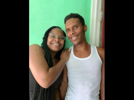 Romario Manning and his sister Nyoka.